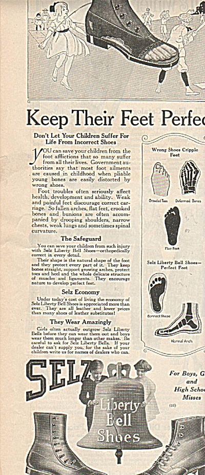 Liberty bell shoes ad 1919 (Image1)