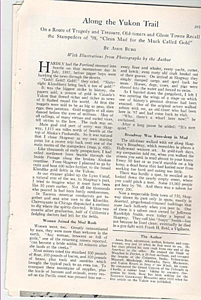 ALONG THE YUKON TRAIL  story 1953 (Image1)
