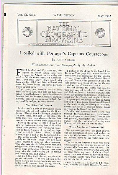 I sailed with PORTUGAL'S CAPTAINS  courageous 1952 (Image1)