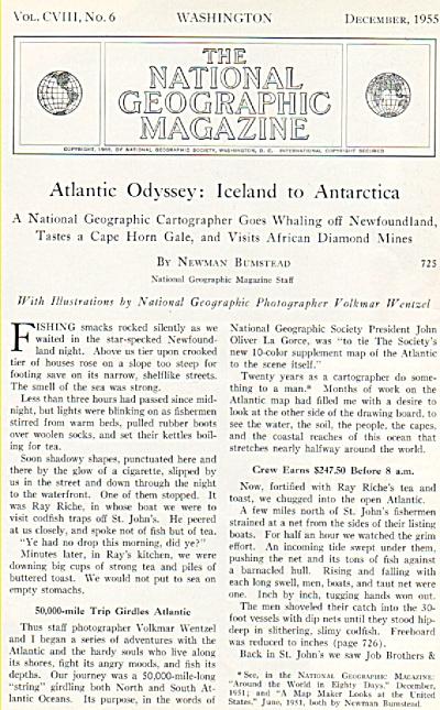 Atlantic Odyssey:  Iceland to Antartica    1955 (Image1)