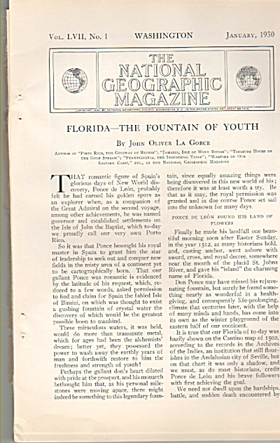 FLORIDA - the Fountain of Y0uth story 1930 (Image1)