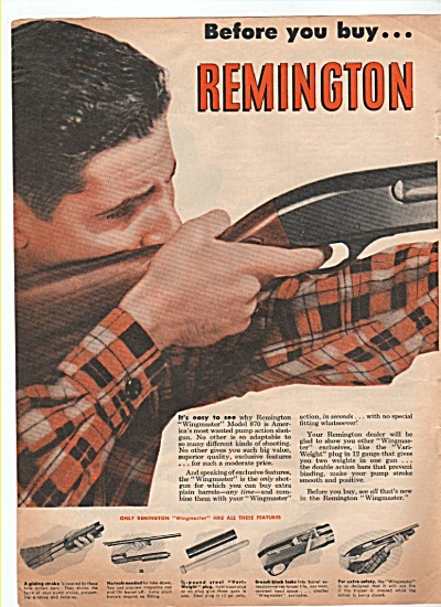 Remington Wingmaster rifle ad 1952 (Image1)
