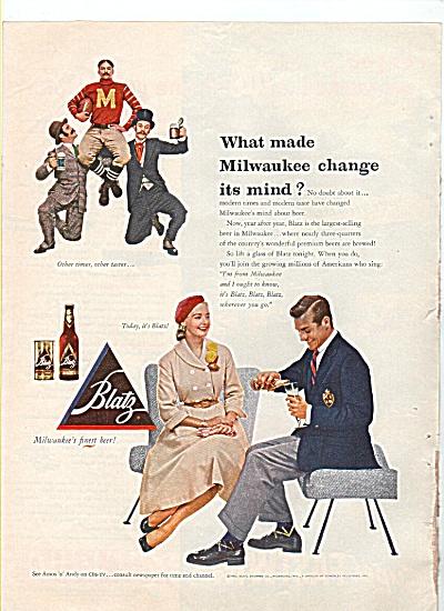 Blatz beer ad - 1952 (Image1)