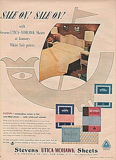 stevens Utica-Mohawk sheets ad 1955 (Image1)