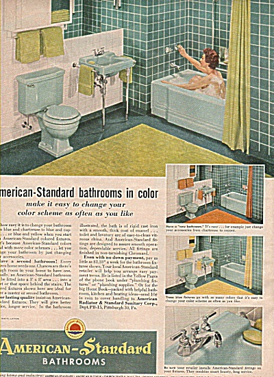 American-Standard bathrooms ad 1955 (Image1)
