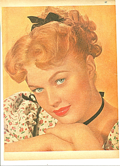 JUNE HAVER - move star picture 1952 STORY (Image1)