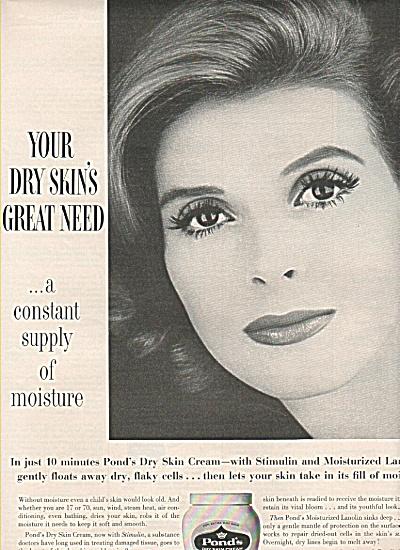 Pond's dry skin cream ad 1960 (Image1)