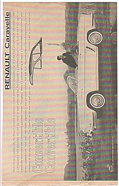 Renault Caravelle auto ad 1960 (Image1)
