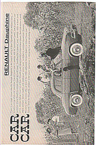 Renault Dauphine auto ad 1960 (Image1)