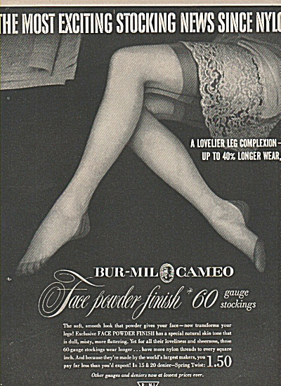 Bur-Mil Cameo stockings ad 1951 (Image1)