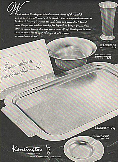 Kensington metalware ad (Image1)