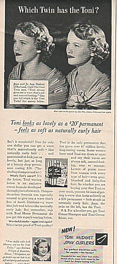 Toni Midget spin curlers ad 1949 (Image1)