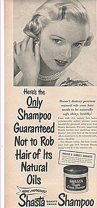 Shasta beauty cream shampoo ad 1949 (Image1)