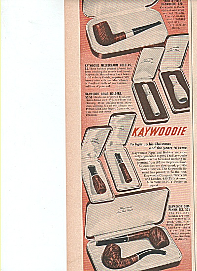 Kaywoodie pipes ad 1949 (Image1)