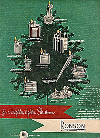 Ronson  lighters ad 1949 (Image1)