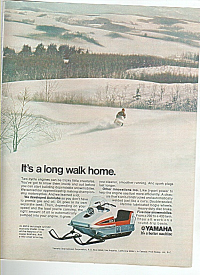 Yamaha Snow Mobile Ad. 1970