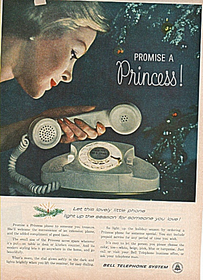 Bell Telephone system ad 1960 PRINCESS PHONE (Image1)