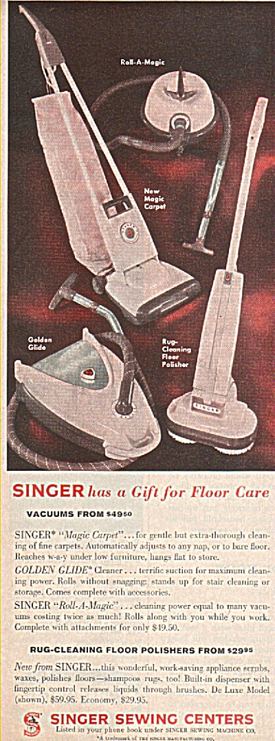 Singer Sewing Centers Ad 1960