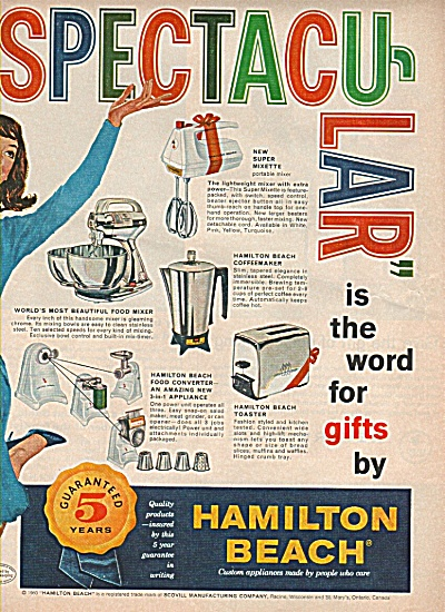Hamilton Beach Products Ad 1960