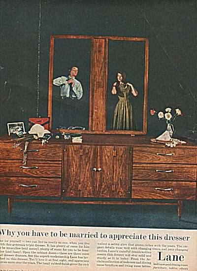 Lane bedroom and dining room furniture ad1960 (Image1)