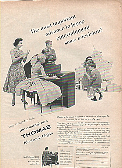 Thomas Electronic organ ad 1956 (Image1)