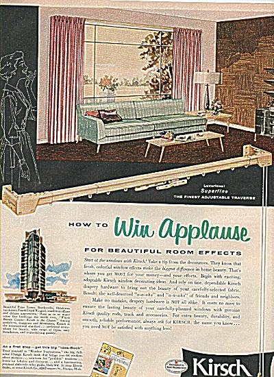 Kirsch drapery hardware ad 1956 (Image1)