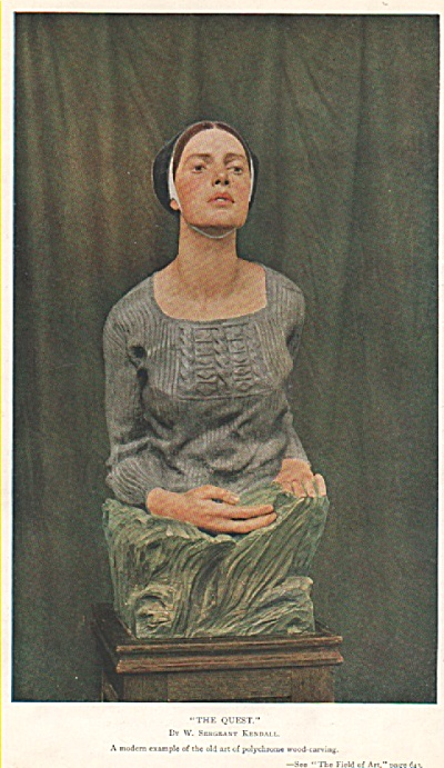 Polychrome wood carving  picture - 1917 (Image1)