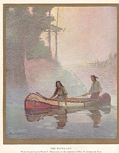 Painting The Water Lily By Frank Schoonover 1917