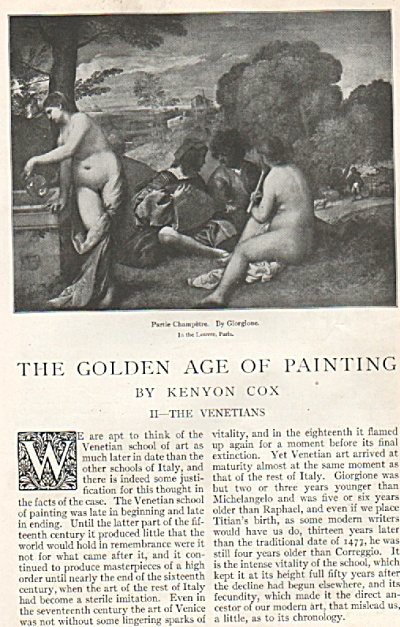 The Golden Age Of Painting Story -1917
