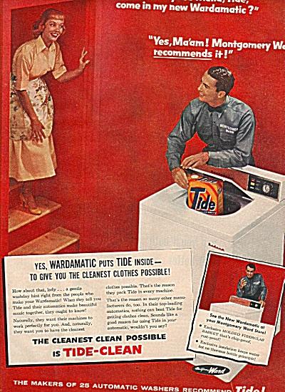 Tide soap - Montgomery ward - ad 1956 (Image1)