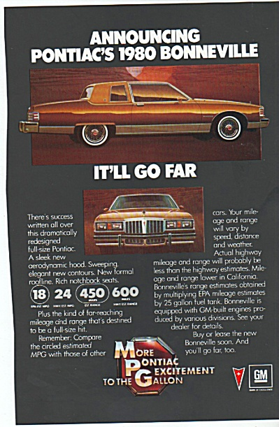 pONTIAC bONNEVILLE FOR 1980  ad (Image1)