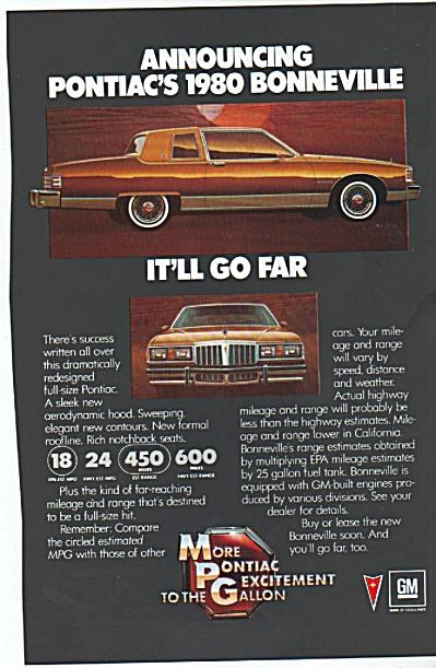 pONTIAC bONNEVILLE FOR 1980  ad (Image1)