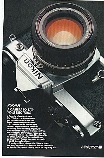 Nikon FE camera ad 1980 (Image1)