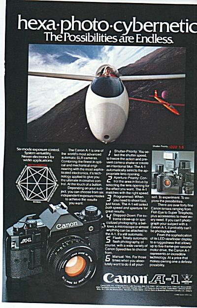 Canon A-1 camera ad 1980 (Image1)