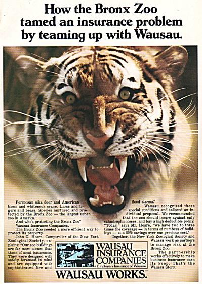 Wausau Insurance companies ad 1980 (Image1)