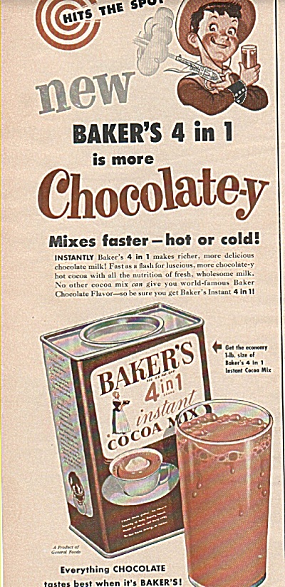 Baker's instant cocoa mix ad (Image1)
