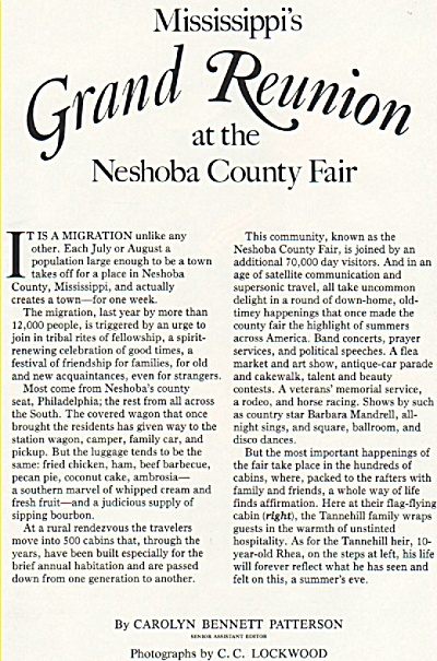 Mississippi's Grand Reunion -Neshoba County Fair 1984 (Image1)