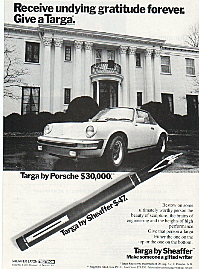 Targa by Sheaffer ad 1980 (Image1)