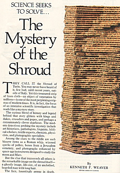 The Mystery Of The Shroud Story 1980
