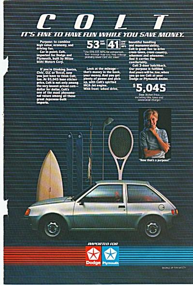 Dodge Colt auto ad 1984 (Image1)