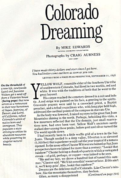 Colorado Dreaming story 1984 (Image1)