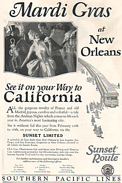 Southern Pacific Lines Ad 1926