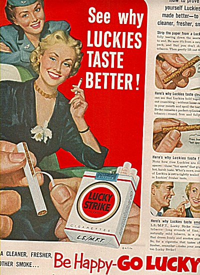 Lucky strike cigarettes ad (Image1)