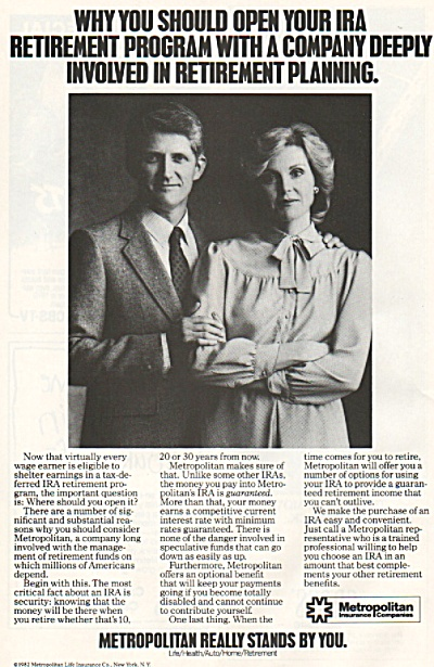 Metropolitan Life Insurance  co. ad - 1982 (Image1)