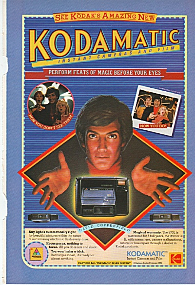 Kodamatic instant camera & film ad 1982 (Image1)