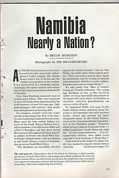 NAMIBIA, Nearly a Nation?  story 1986 (Image1)