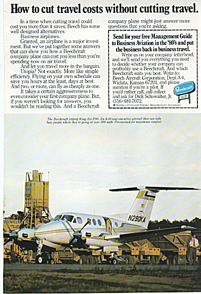 Beechcraft airplane ad 1980 (Image1)