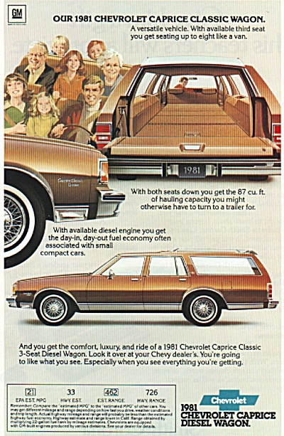 Chevrolet caprice diesel wagon ad 1980 (Image1)