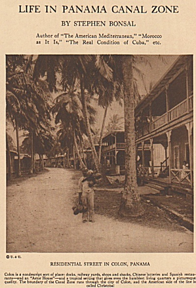 Life In Panama Canal Zone Story 1925