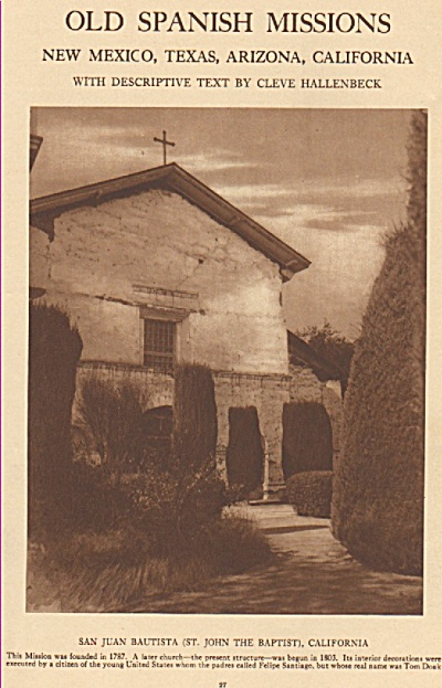 Old Spanish Missions story 1925 (Image1)